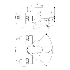 <b>Комплект смесителей</b> 3 в 1 <b>Ideal Standard</b> VITO B1132AA купить в ...