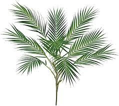 Supla 1 Pcs Artificial Tropical Palm Leaf Bush in ... - Amazon.com