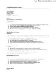 medical receptionist resume. receptionist resume example. resume ... Resume Examples Medical Receptionist Resume With Qualification Summary And Education Or Experience Details As Medical