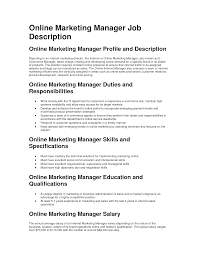 job description online coordinator professional resume cover job description online coordinator donor relations coordinator job description shelterbox 12 sample marketing manager job description