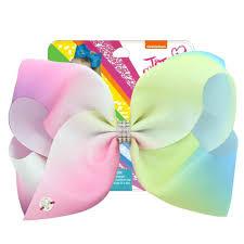 "<b>8</b>"" Sequin Rainbow <b>JoJo siwa Bow</b> With Hair Clip For Girls Kids ..."