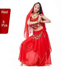 5 Pcs <b>Professional Women Belly Dance</b> Costumes Sets Fashion ...