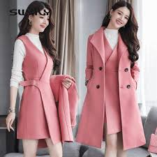 2019 <b>SWYIVY Jacket</b> Woman Wool <b>Coat</b> Long Winter Warm 2xl ...