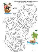 Jeu de labyrinthe à imprimer, l'alphabet (avec images) | Labyrinthe à ...