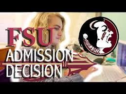 Florida State University  FSU  Admission Decision Reaction    Fall