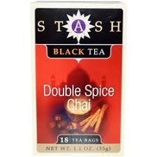 Stash Tea <b>Black Tea</b>, <b>Double Spice</b> Chai - 18 Bags - eVitamins.com