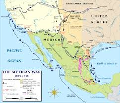 texas revolution mexican war history hub map of mexican war 1846 48