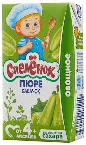 <b>Пюре Спелёнок кабачок</b> (с 4 месяцев) Tetra Pak <b>125 г</b>, 1 шт ...