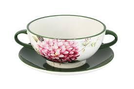 Купить <b>Суповая чашка на</b> блюдце Цветы и птицы по цене 911 ...