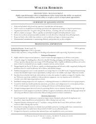 resume example free sample resume for warehouse worker summary of qualifications general warehouse worker resume sample resume production worker