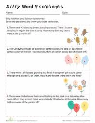 3rd Grade Word Problems Worksheets & Free Printables | Education.comWorksheet. Silly Word Problems