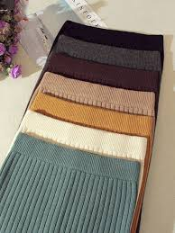 Elastic band women skirts <b>Autumn winter</b> warm knitted straight skirt ...