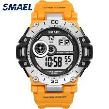 <b>Digital Wristwatches</b> Sport <b>SMAEL</b> Men Watch Chronograph LED ...