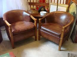 images hollywood regency pinterest furniture:  mid century modern vintage hollywood regency brown leather barrel chairs