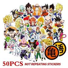 50 <b>Pcs</b>/<b>Lot Anime Dragon</b> Ball Stickers Super Saiyan Goku mixed ...