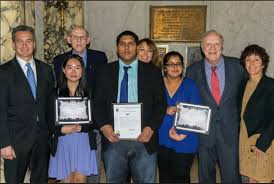 brooklyn student wins judicial essay contest brooklyn daily eagle from left hon michael j garcia kelly wong her teacher