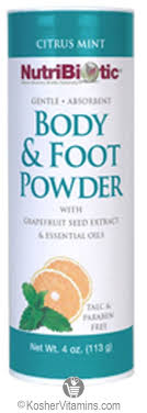 NutriBiotic <b>Body & Foot Powder</b> Citrus Mint 4 Oz - Koshervitamins.com