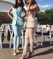 Bespoke Custom Made <b>Spring Summer Women Slim</b> Fit Pants Suit ...