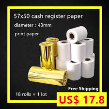compare prices on paper rolle online shopping buy low price paper 18rolls case 57x50 cash register paper eco type thermal paper roll from 43mm pos printer wood plup shipping