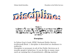 img cropped   pngexplain the need for discipline in at least two public services     document image