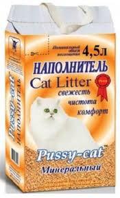 <b>Pussy</b>-<b>Cat минеральный</b> 4,5л в Коломне с доставкой - kotiku.ru