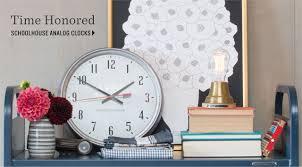 retro s kitchen eclectic  schoolhouse clocks ibm clocks