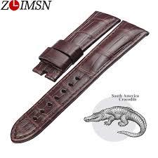 <b>ZLIMSN New</b> America <b>Crocodile</b> Leather Watchband For Men's ...