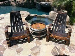 wine barrel adirondack chair arched napa valley wine barrel table