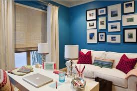 get this look for less blue white and fuchsia home office organization project blue white home office