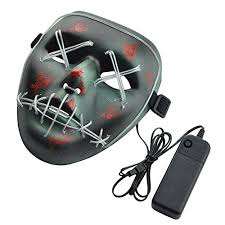 Xdffy <b>Halloween</b> Mask LED Light Up Funny Masks Great Festival ...