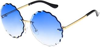 Sopaila Rimless Sunglasses for Women Round ... - Amazon.com