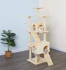Go Pet Club 63-in Economical <b>Sisal Cat Tree</b>, Beige - Chewy.com