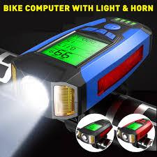 <b>Multi Purpose Bike Computer Bicycle</b> Headlight and 130dB Horn ...