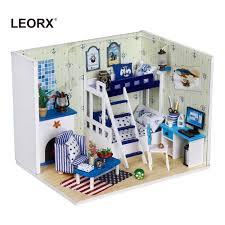 Wooden Mini Dollhouse Miniature Furniture Kit Doll House <b>Model</b> ...