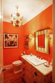 ideas burnt orange bathrooms
