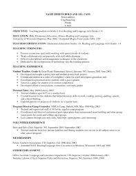 Preschool Teacher Resume Objective  resume examples  teaching     teacher resume objective