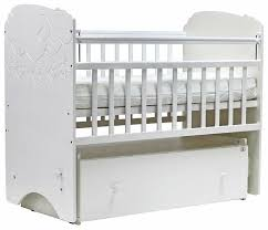 детская кроватка топотушки софья белый