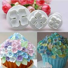 Online Shop 3Pcs/Set <b>Silicone</b> Hydrangea Fondant Cake ...