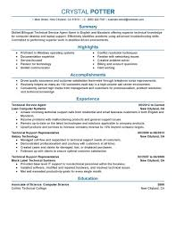 best bilingual technical service agent resume example livecareer create my resume