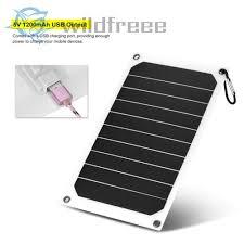 Portable 10W 5V <b>Solar Charging Panel</b> USB Socket Charger for ...