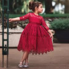 <b>Girls Dress 2019 Autumn</b> Winter Princess Dress Girls Floral Long ...