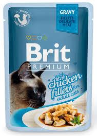 Влажный корм для кошек Brit Gravy Chiсken Fillets 0,085 кг купить ...
