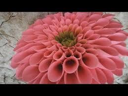 Giant dahlia from craft foam (EVA). Part 4 - YouTube | Бумажный ...