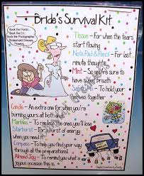 bridal survival kit check list