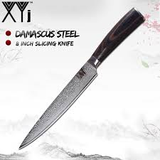 <b>XYj</b> Hot <b>Damascus</b> Pattern Stainless Steel Knife Kitchen Knives SET ...