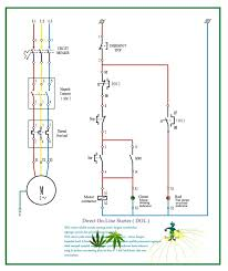 direct online starter wiring diagram single phase   direct on line    dol starter circuit diagram direct on line starter dol