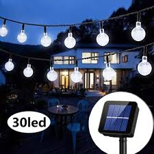 Outdoor Lighting Solar Powered <b>30LED String</b> Light Garden Path ...