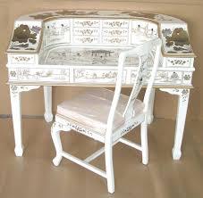 white oriental lacquer piano desk asian office furniture