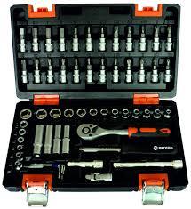 <b>Набор инструментов</b> 1/4 дюйма, CrV, пластиковый кейс 57 ...