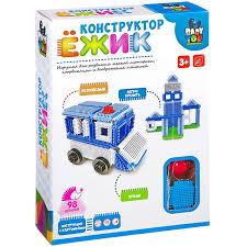 <b>Конструктор</b> 98 эл пластик <b>Ёжик Bondibon машина</b>+<b>станция</b> BOX ...